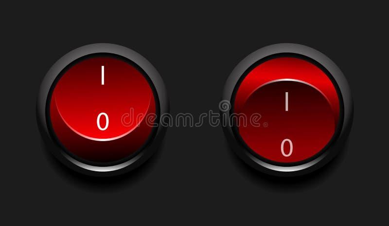 Interruptores De Potência Do Vetor Foto de Stock