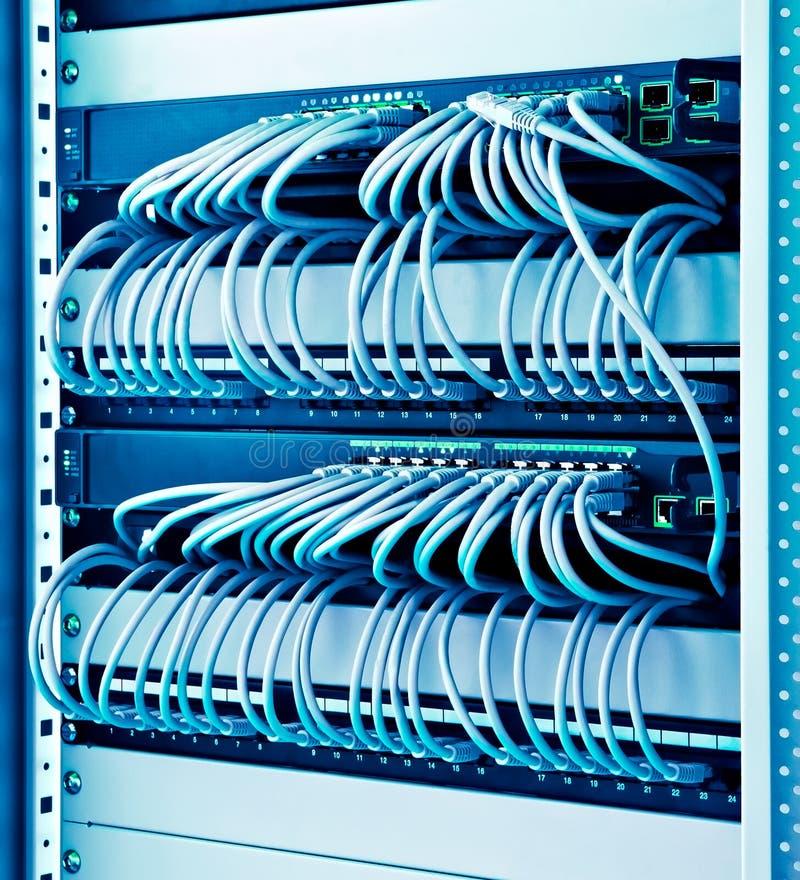 Interruptores de rede fotos de stock