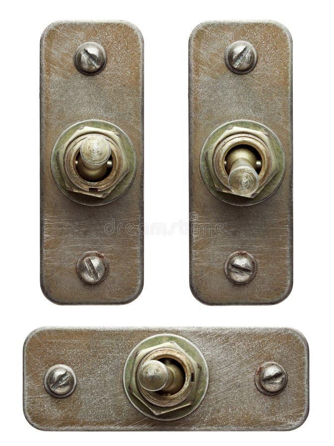 Interruptores eléctricos imagen de archivo libre de regalías