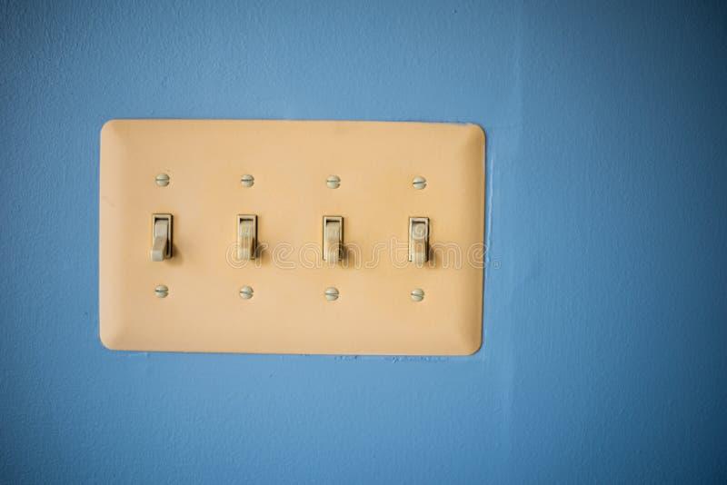 Interruptores ligeros imagen de archivo libre de regalías