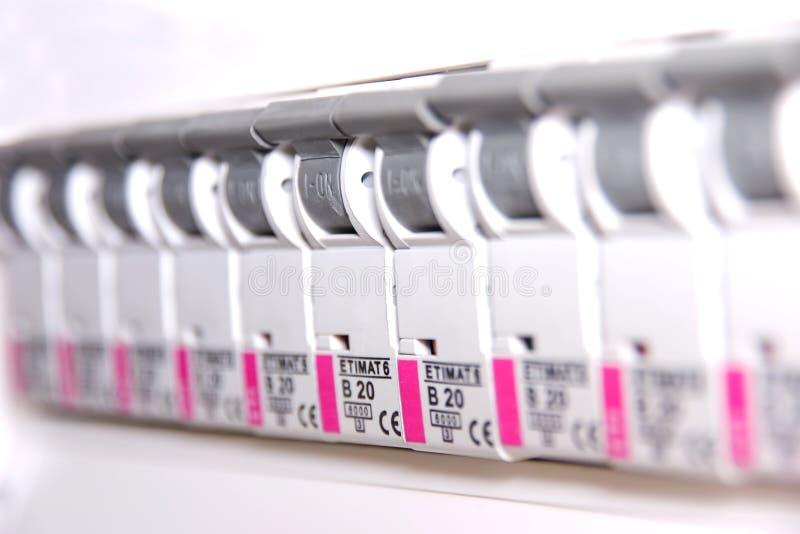 Interruptores no fusebox foto de stock royalty free