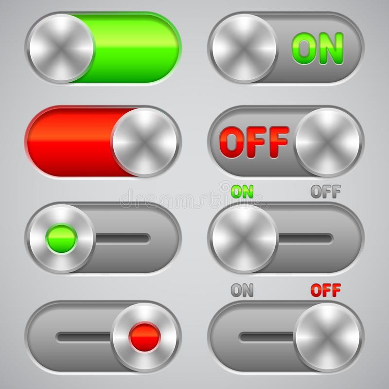 Interruptores por intervalos. stock de ilustración