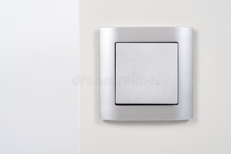 Interruttore chiaro d'argento immagini stock