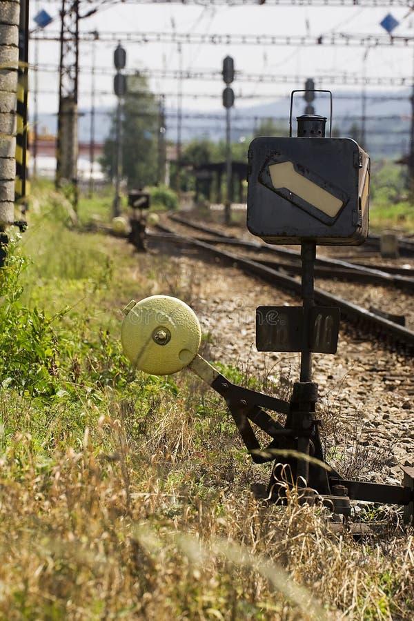 Interruttore della ferrovia immagini stock libere da diritti