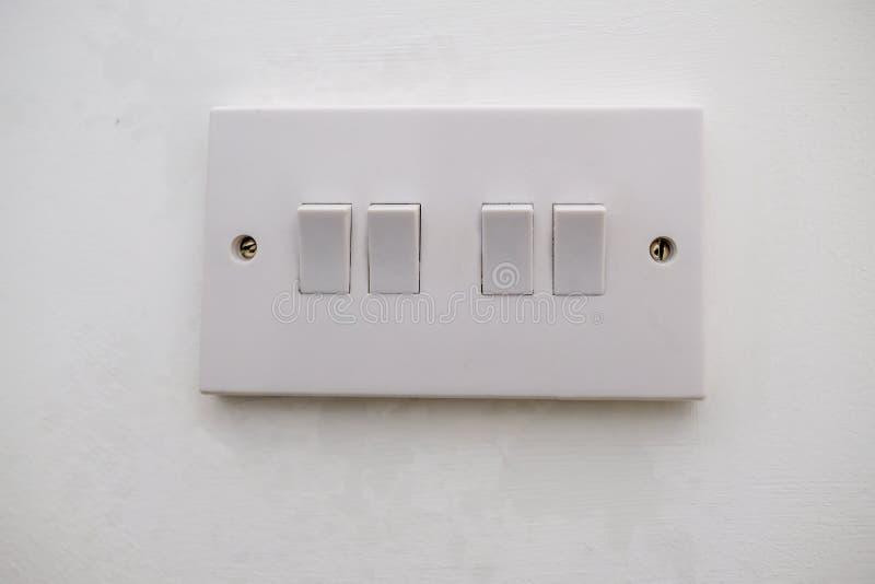 Interruttore della luce elettrico a quattro vie fotografie stock libere da diritti