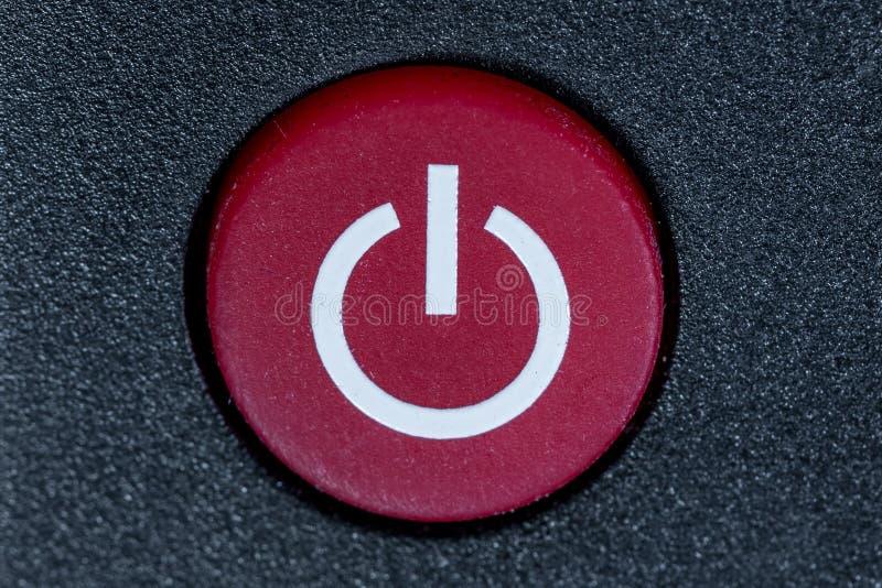 Interruttore di accensione sul telecomando immagine stock