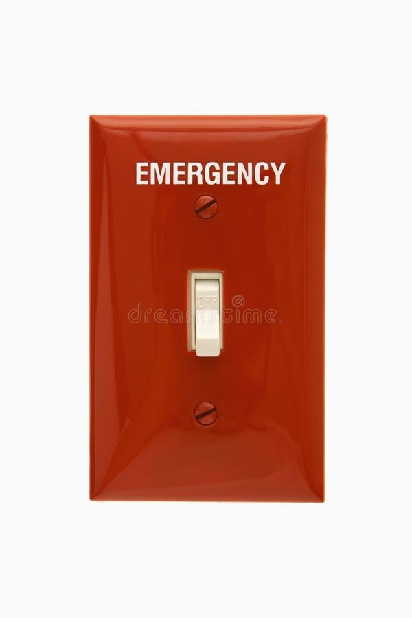 Interruttore di emergenza. fotografie stock libere da diritti