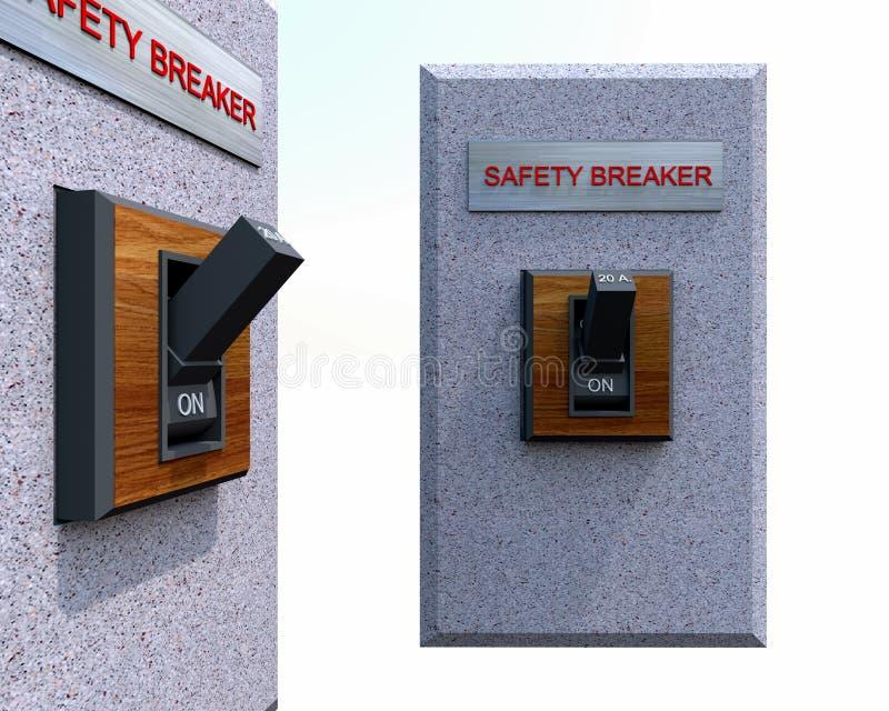 Interruttore di sicurezza fotografia stock