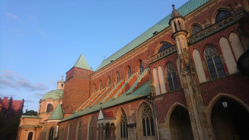 Interruttore di Wroclaw Katedra Jana Chrzciciela fotografia stock