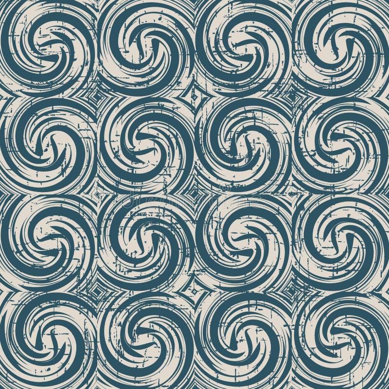 Interruttore senza cuciture antico consumato del vento trasversale di vortice a spirale del fondo illustrazione di stock