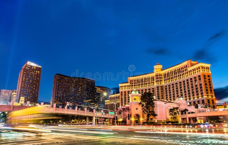 Interseção da Faixa de Las Vegas e da Estrada Flamingo imagens de stock royalty free