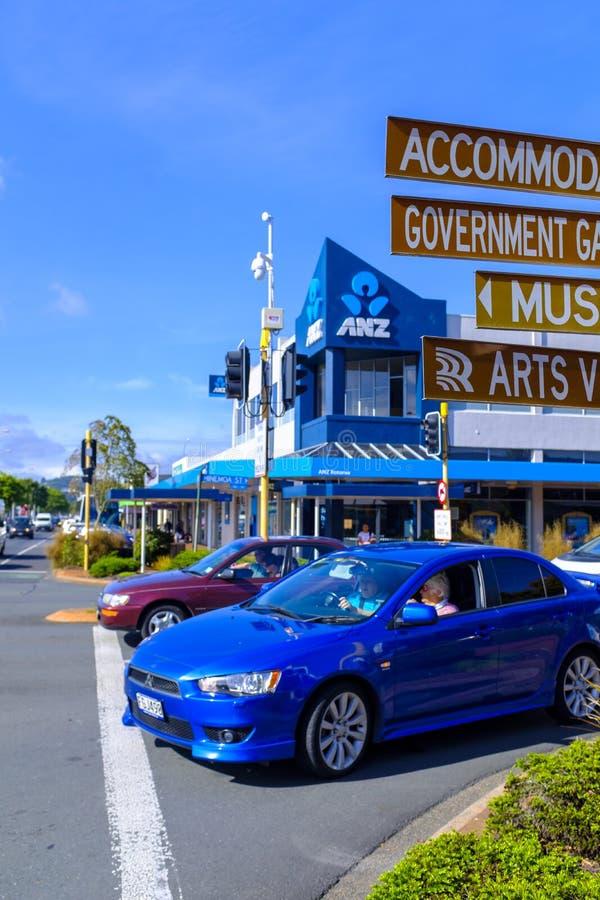 Interseção ocupada em Rotorua imagens de stock