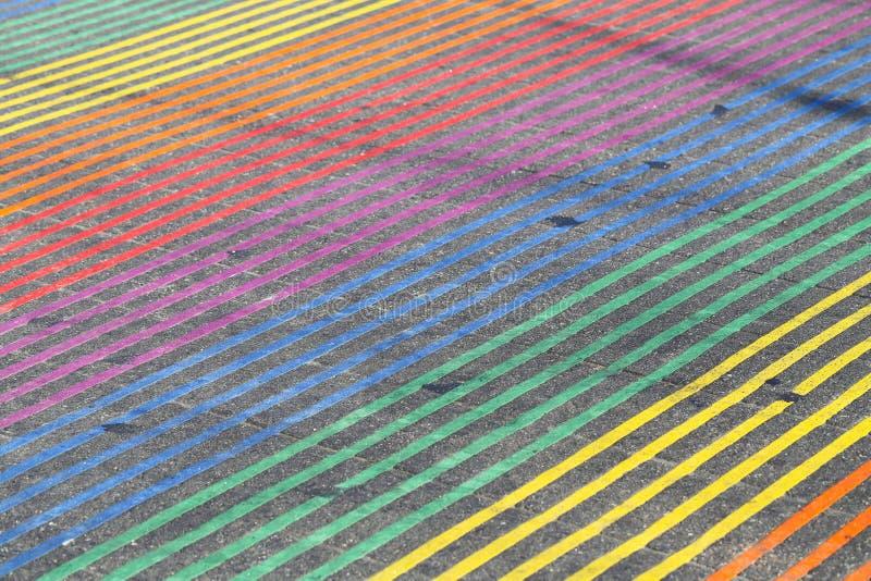 Intersección del arco iris, Castro District, California foto de archivo libre de regalías