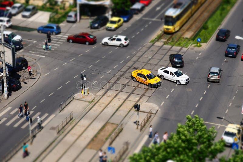 Intersección urbana fotos de archivo libres de regalías