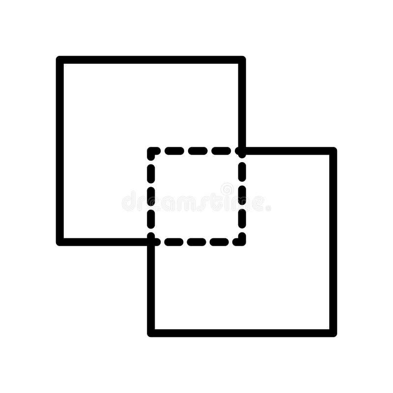 Intersectez le vecteur d'icône d'isolement sur le fond blanc, intersectez le SI illustration libre de droits