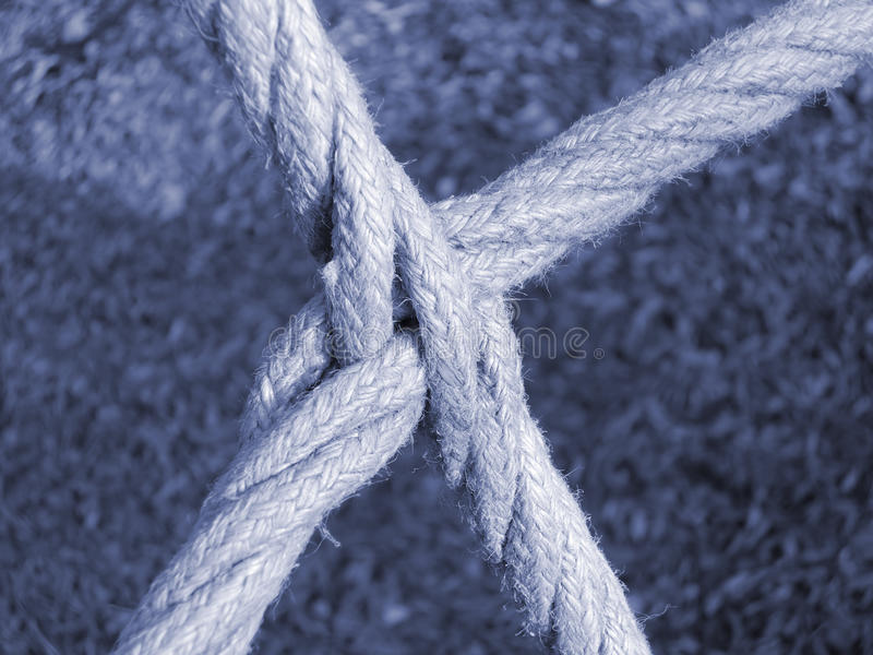 Intersecting Ropes Royalty Free Stock Photos
