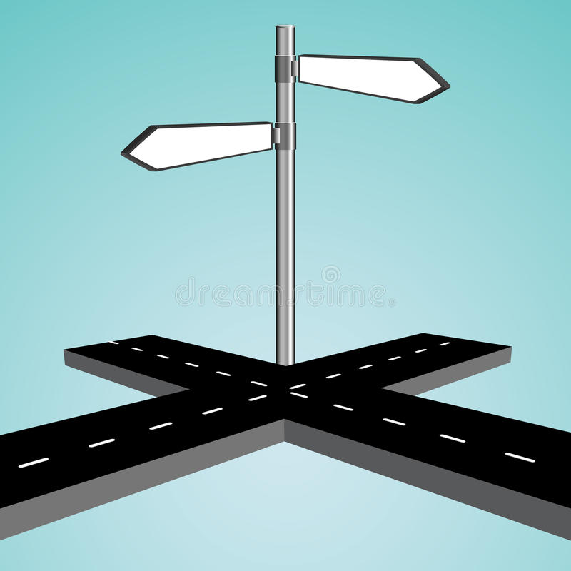 intersection 3d illustration de vecteur