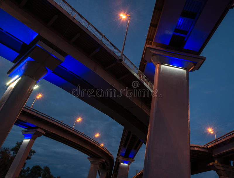 Intersection d'autoroute image stock