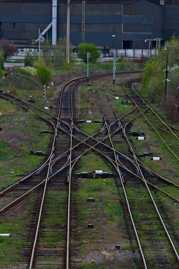 Intersection de chemin de fer photos libres de droits