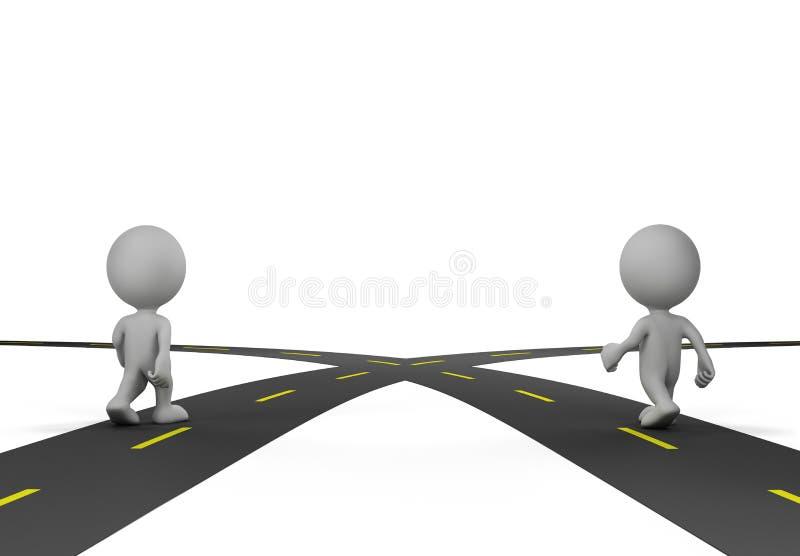 Intersection de deux routes illustration de vecteur