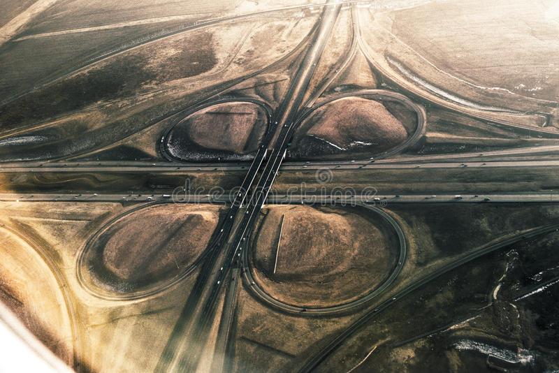 Intersection de route photographie stock libre de droits
