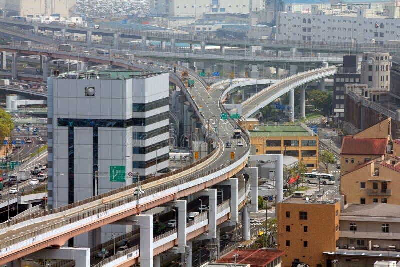 Intersection de route au Japon images libres de droits