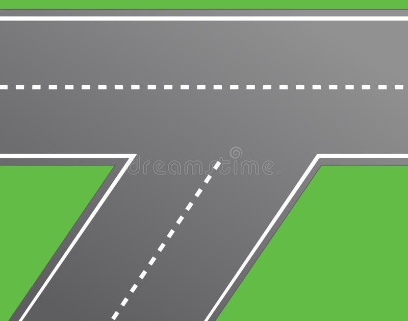 Intersection de route, vecteur de route illustration libre de droits