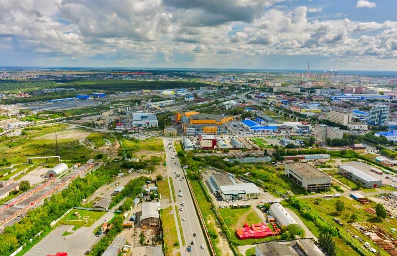 Intersection de rues de Permyakova et de Harkovskaya photo stock
