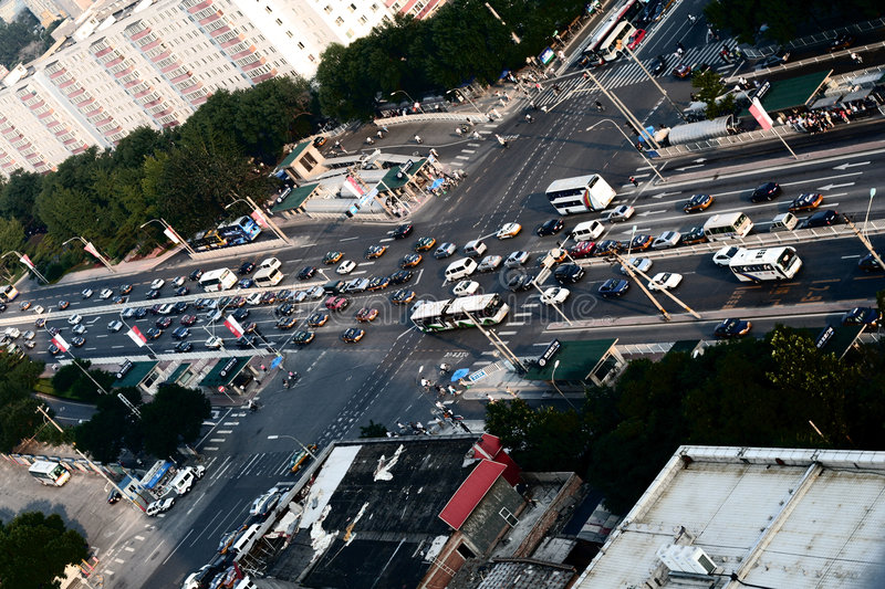 Download Intersection In Downtown Beijing Stock Photo - Image: 5996130