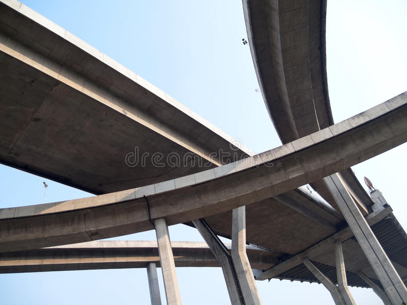 Intersection expressway royalty free stock image