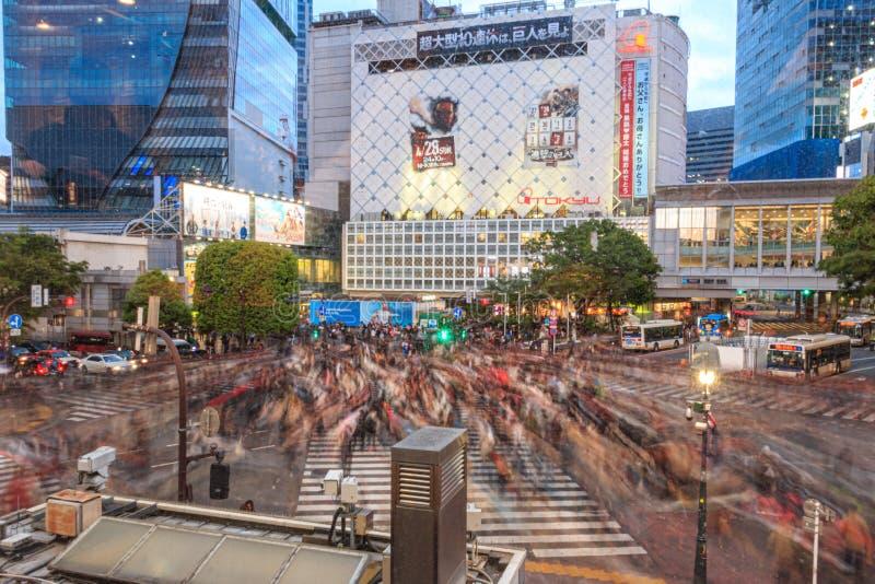 Intersection on Shibuya, Tokyo, Japan royalty free stock image