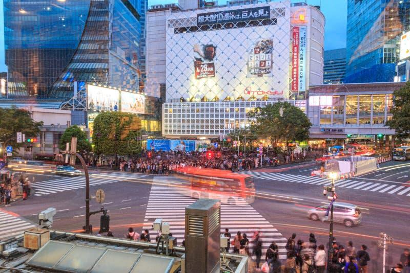 Intersection on Shibuya, Tokyo, Japan royalty free stock photography