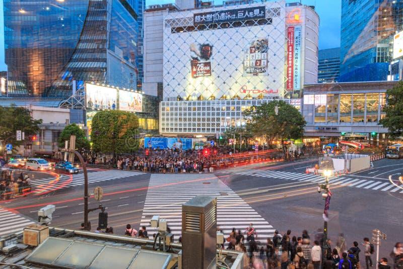 Intersection on Shibuya, Tokyo, Japan stock image