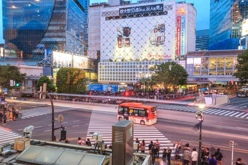 Intersection on Shibuya, Tokyo, Japan royalty free stock photo
