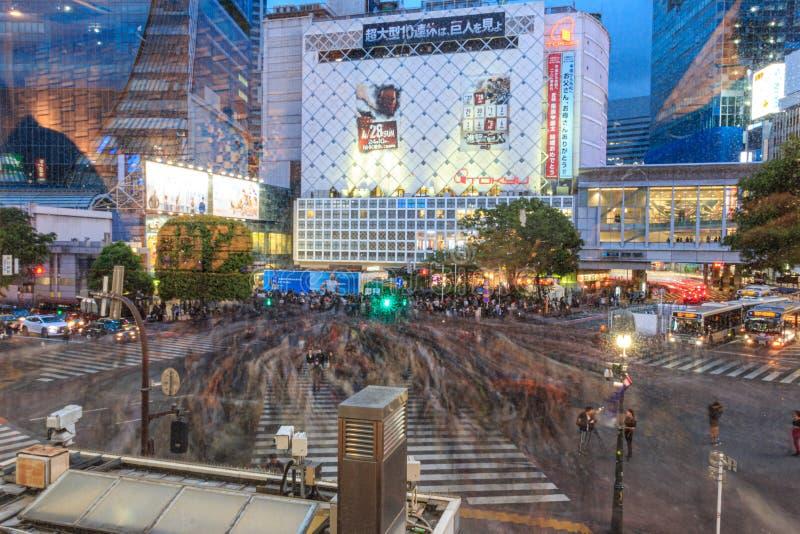 Intersection on Shibuya, Tokyo, Japan stock photo