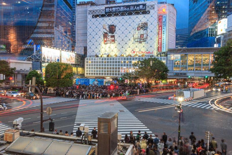 Intersection on Shibuya, Tokyo, Japan stock photos