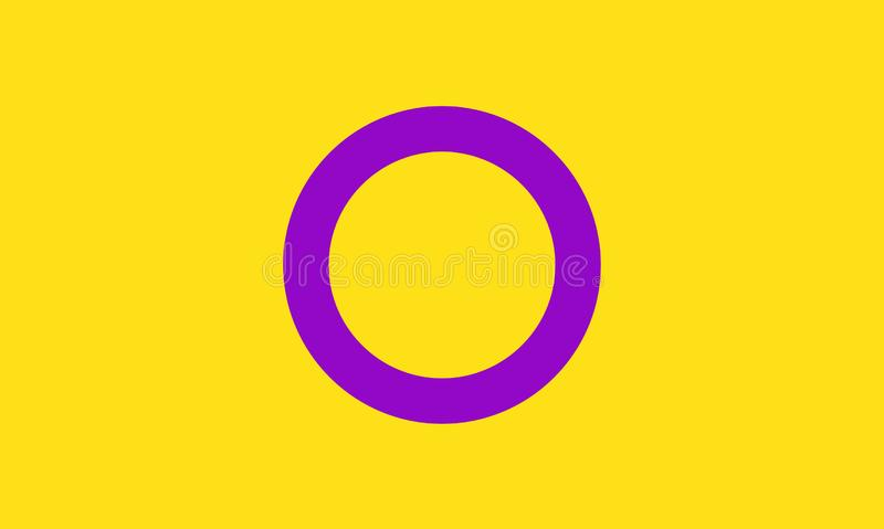 Intersex pride flag - one of the sexual minority of LGBT community vector illustration