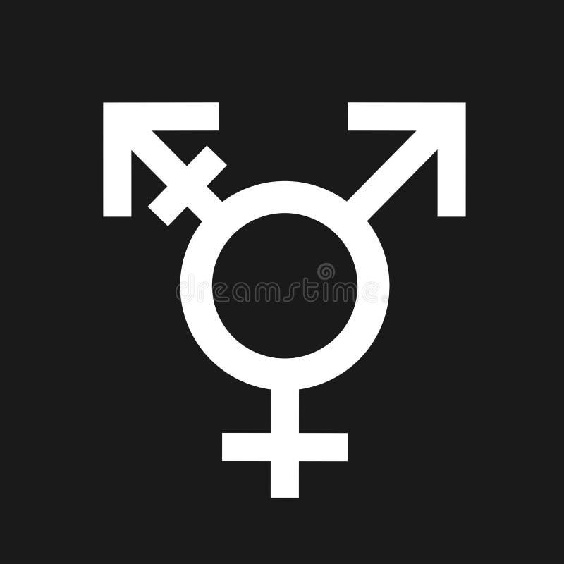 Intersex tredje könsbestämmer och genuset stock illustrationer