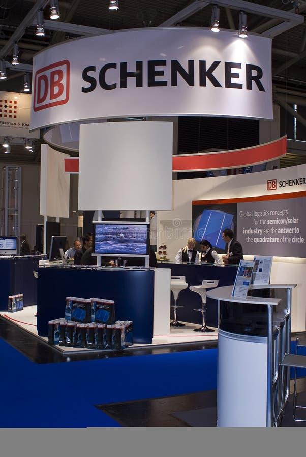 Intersolar 2009 - Stand 2 DB-SCHENKER stockbilder
