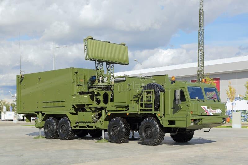 Interspecific mobiel radarsysteem stock afbeeldingen