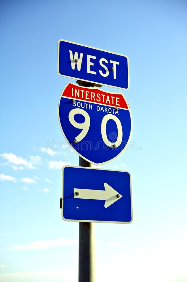 Download Interstate 90 West stock photo. Image of driver, road - 27002982