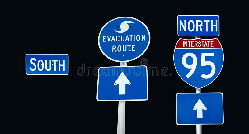 Interstate 95 evacuation royalty free stock images