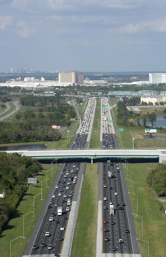 Interstate 4 in Orlando, Florida royalty free stock photography