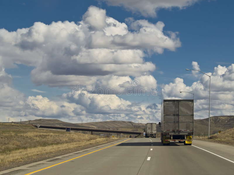 Interstate Semis royalty free stock image