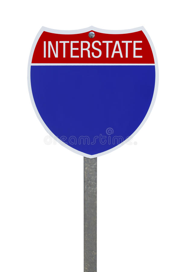 Interstate Sign royalty free stock photos