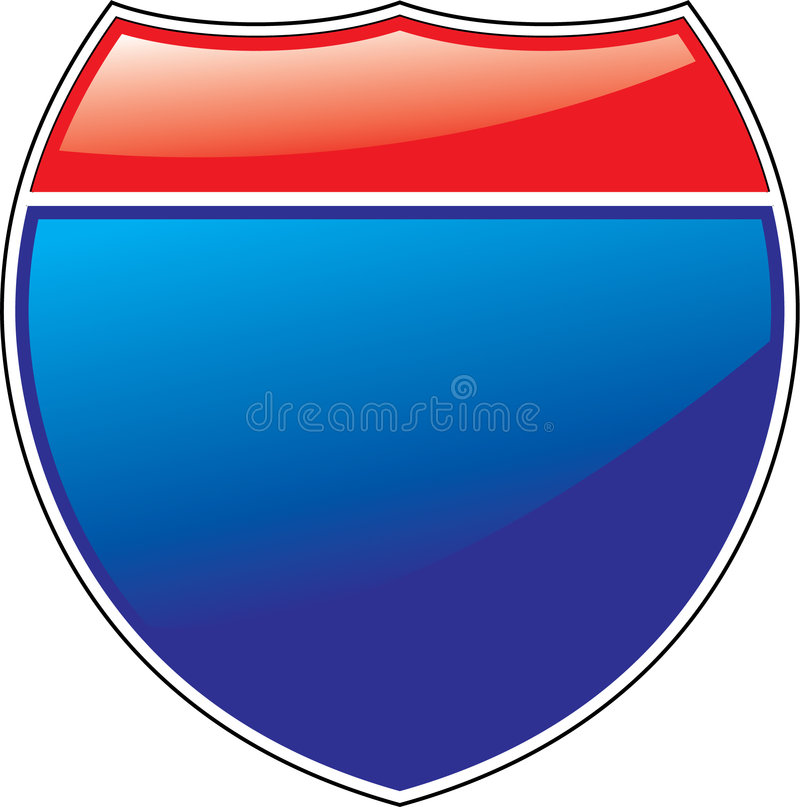 interstate tecken royaltyfri illustrationer