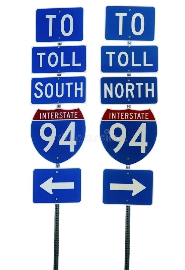 interstate vägmärke 94 royaltyfria bilder