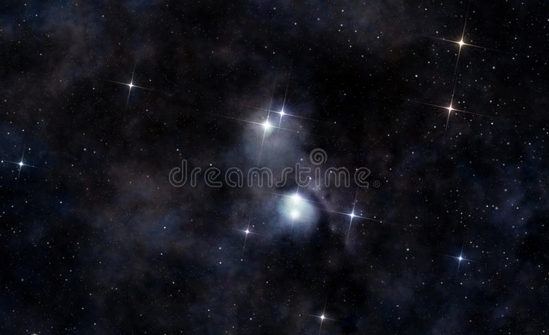 Download Interstellar Cloud In Deep Space Stock Illustration - Illustration: 42851695