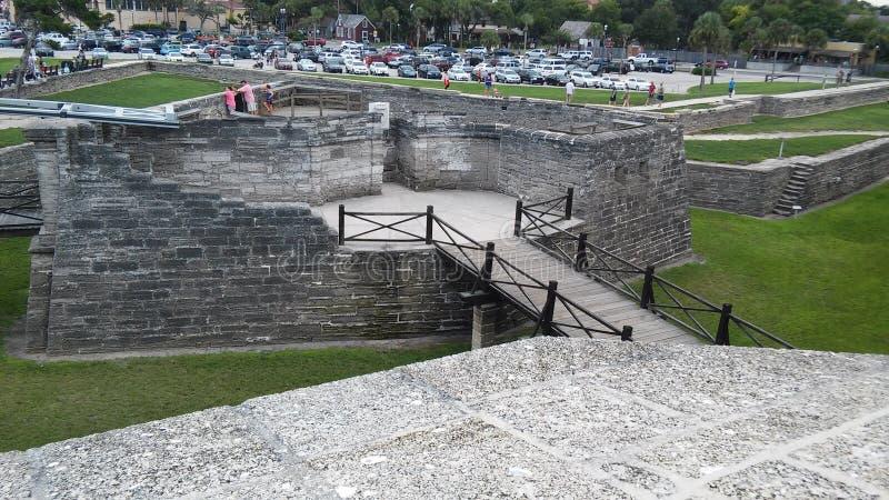 Intertrabaja del fuerte Castillo de San Marcos fotografía de archivo