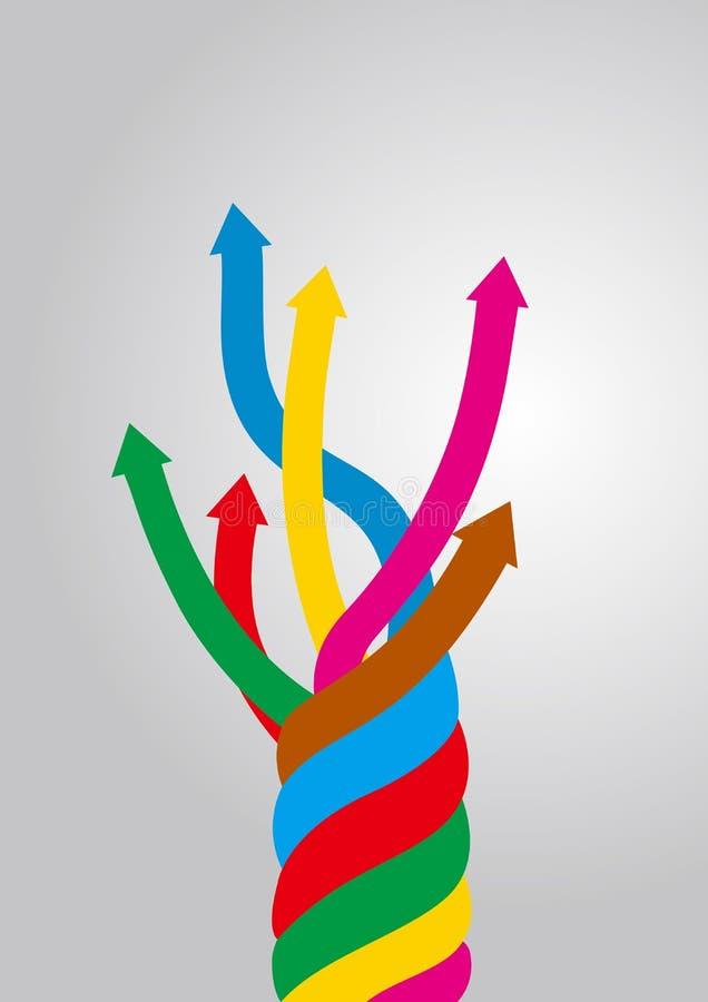 Intertwined arrow symbols. vector illustration
